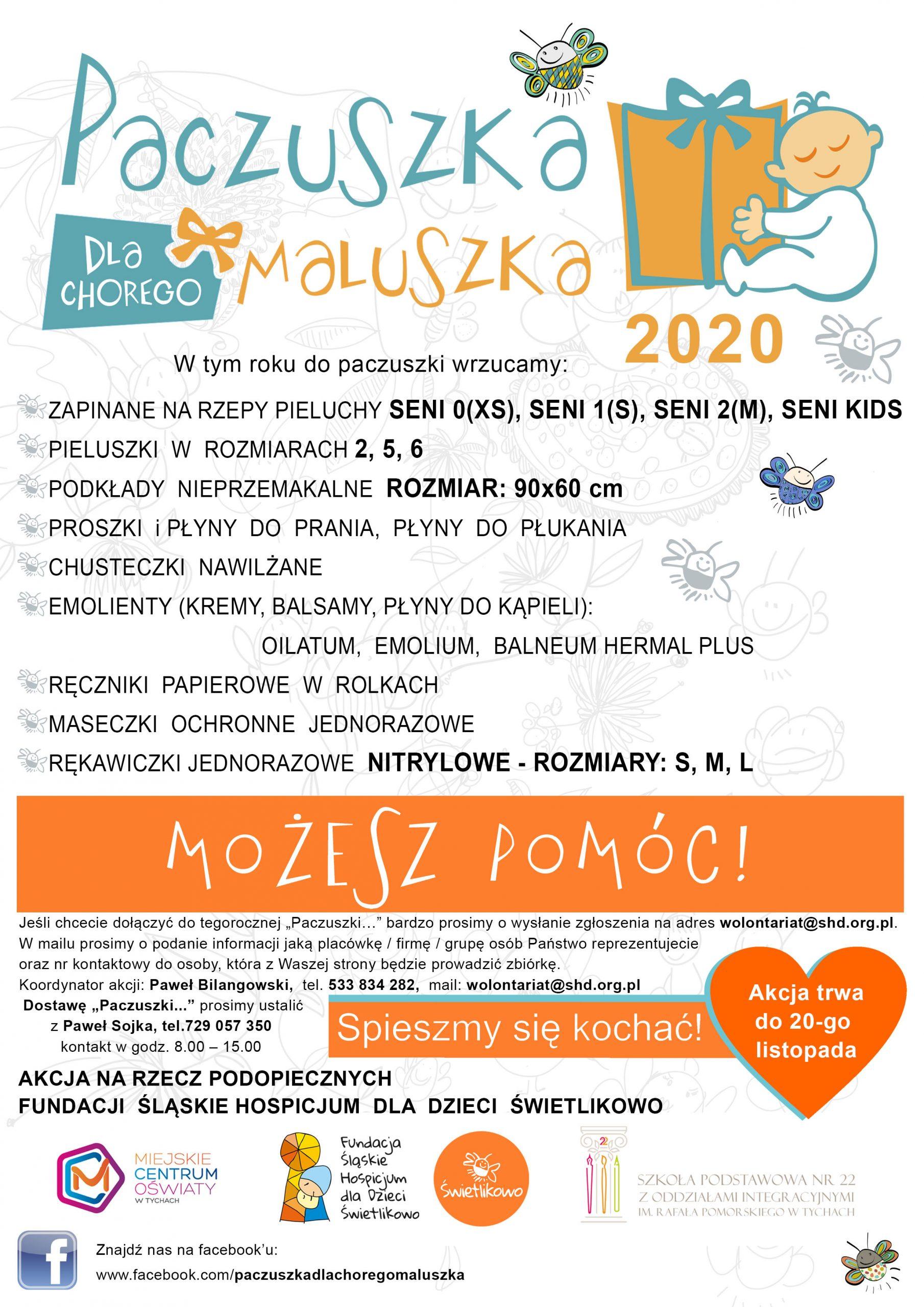 Plakat paczuszka 2020